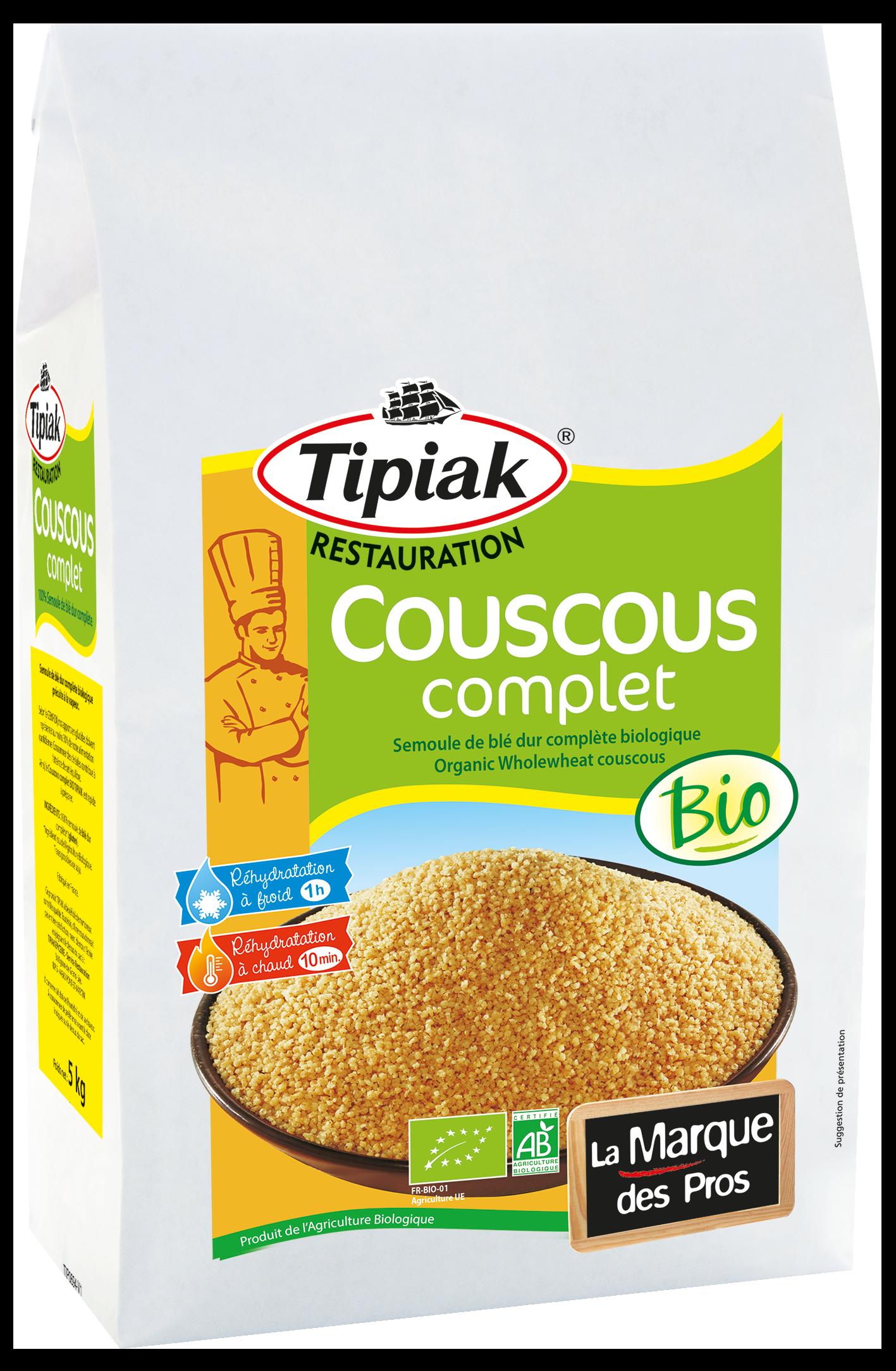 Couscous Complet Bio - 5 kg