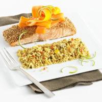 Saumon rôti et Céréales à l'Asiatique HD